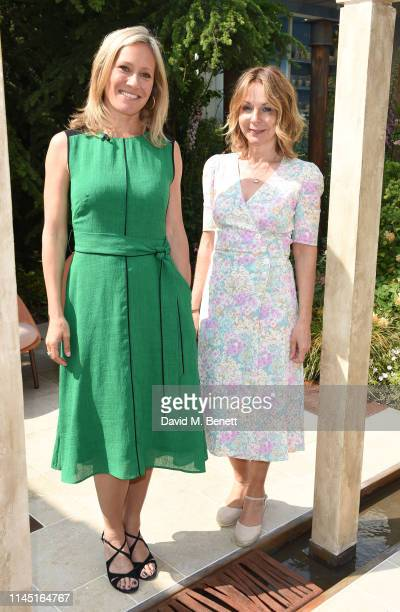 Sophie Raworth and Jo Thompson attend the RHS Chelsea Flower Show 2019 press day on May 20, 2019 in London, England.