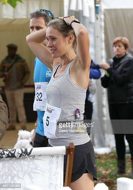 Sophie Raworth attends a photocall ahead of the Royal Parks Foundation half marathon at Hyde Park on October 12 2014 in London England