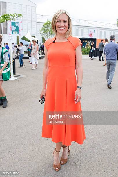 Sophie Raworth attends Chelsea Flower Show press day at Royal Hospital Chelsea on May 23 2016 in London England