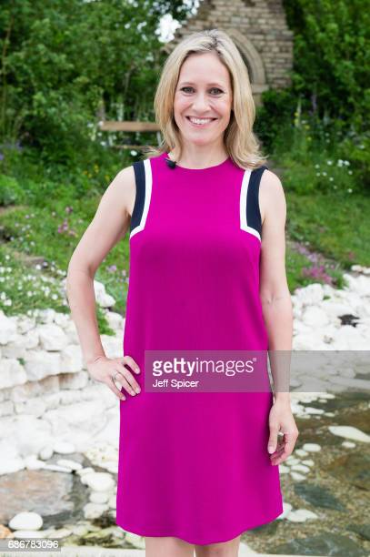 Sophie Raworth attends RHS Chelsea Flower Show press day at Royal Hospital Chelsea on May 22 2017 in London England