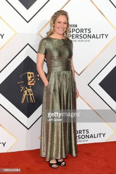 Sophie Raworth attends the 2018 BBC Sports Personality Of The Year at The Vox Conference Centre on December 16, 2018 in Birmingham, England.