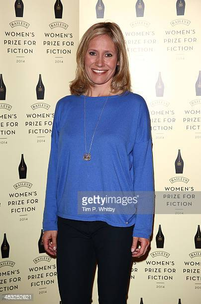 Sophie Raworth attends the Baileys Women's Prize for Fiction Short List Announcement at The Magazine at The Serpentine Gallery on April 7 2014 in...