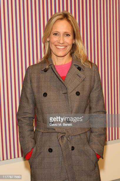 Sophie Raworth attends the Bridget Riley retrospective exhibition at The Hayward Gallery on October 22, 2019 in London, England.