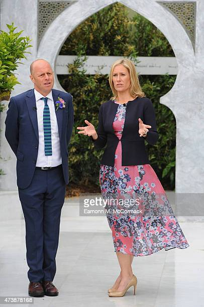 Sophie Raworth attends the Chelsea Flower Show at Royal Hospital Chelsea on May 18 2015 in London England