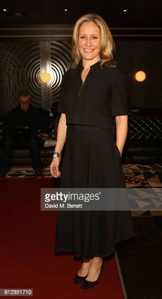 Sophie Raworth attends the Costa Book Awards at Quaglino's on January 30 2018 in London England