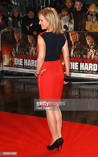 Sophie Raworth attends the UK Film premiere for 'A Good Day To Die Hard' at The Empire Cinema on February 7 2013 in London England