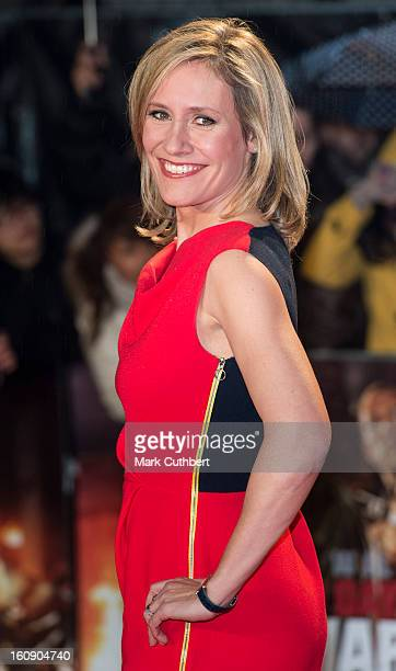 Sophie Raworth attends the UK Premiere of 'A Good Day To Die Hard' at Empire Leicester Square on February 7 2013 in London England