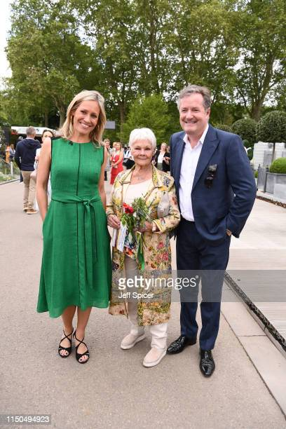 Sophie Raworth, Dame Judi Dench and Piers Morgan attend the RHS Chelsea Flower Show 2019 press day at Chelsea Flower Show on May 20, 2019 in London,...