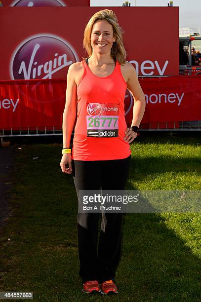 Sophie Raworth poses for photographs ahead of the Virgin Money London Marathon on April 13 2014 in London England