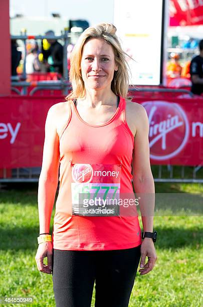 Sophie Raworth takes part in the 2014 London Marathon on April 13 2014 in London England