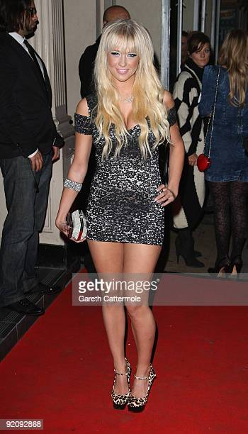 Sophie Reade arrives at the Reveal 5th Birthday Party on October 20 2009 in London England