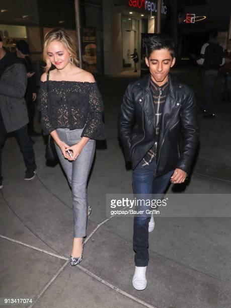 Sophie Reynolds and Karan Brar are seen on February 01 2018 in Los Angeles California