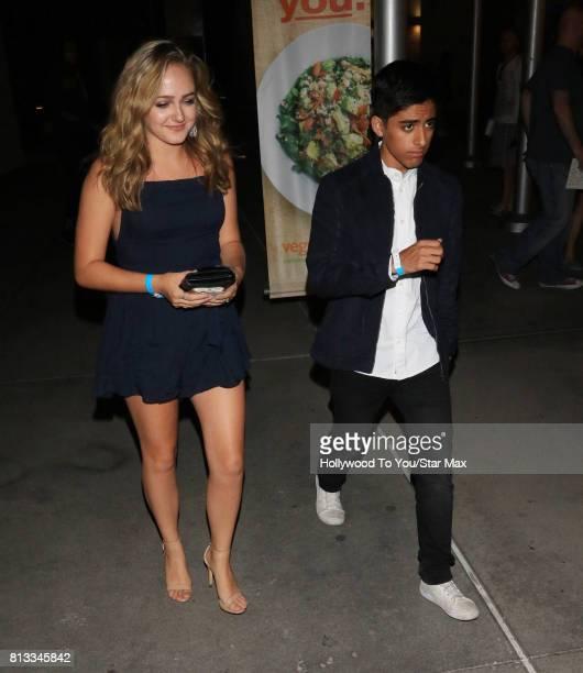 Sophie Reynolds and Karan Brar are seen on July 11 2017 in Los Angeles CA