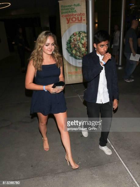 Sophie Reynolds and Karan Brar are seen on July 11 2017 in Los Angeles California