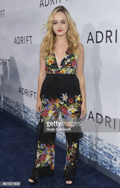 Sophie Reynolds arrives at the premiere of STX Films' 'Adrift' at Regal LA Live Stadium 14 on May 23 2018 in Los Angeles California