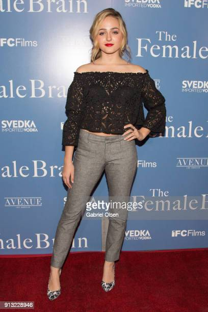 Sophie Reynolds arrives for the premiere of IFC Films' 'The Female Brain' at ArcLight Hollywood on February 1 2018 in Hollywood California