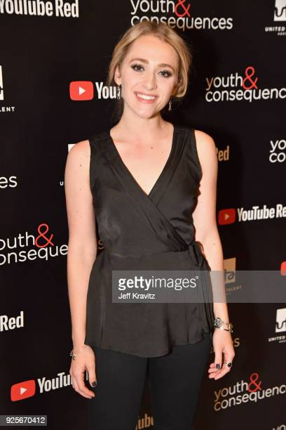 Sophie Reynolds attends the YouTube Red Originals Series 'Youth Consequences' screening on February 28 2018 in Los Angeles California