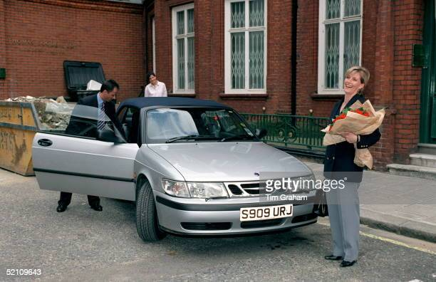 Sophie Rhysjones Accompanied By Her Royal Protection Officers Leaves Work In A Saab Carthe Last Time Before Her Marriage To Prince Edward