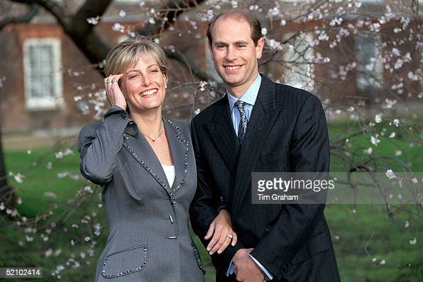 Sophie Rhysjones And Prince Edward On The Day Of Their Engagement