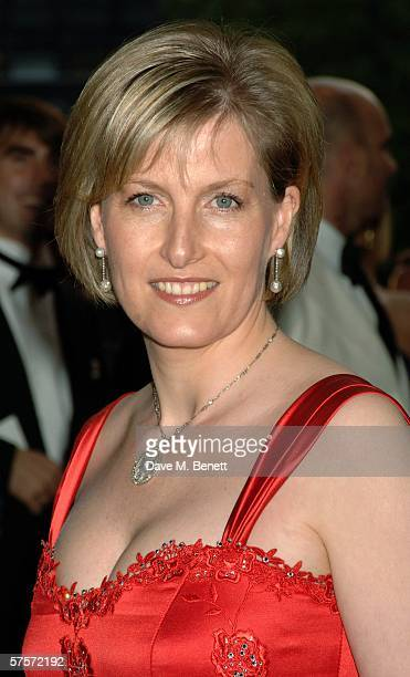 Sophie RhysJones Countess of Wessex arrives at the Dream Auction Full Stop party designed to launch NSPCC's There4Me online service an interactive...