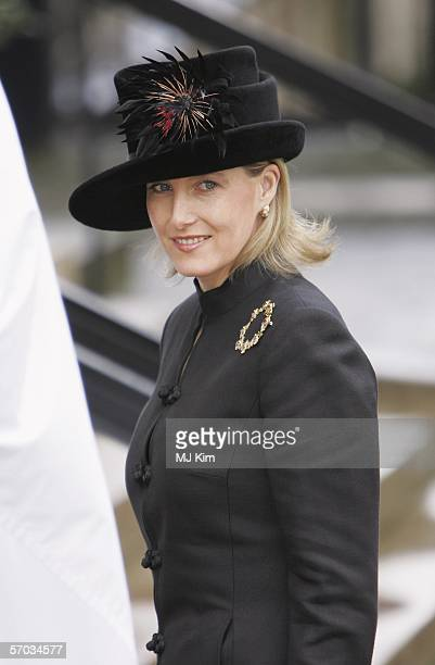 Sophie Rhys-Jones, Countess of Wessex attends the second memorial service for Lord Lichfield, royal photographer and cousin of The Queen who died...
