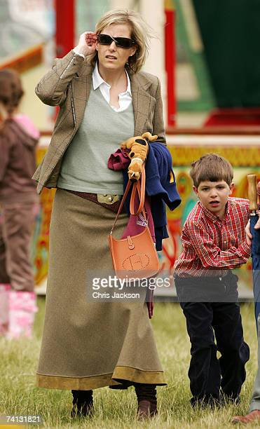 Sophie RhysJones Countess of Wessex looks on in the fairground as she attends the Royal Windsor Horse Show on May 12 2007 in Windsor England