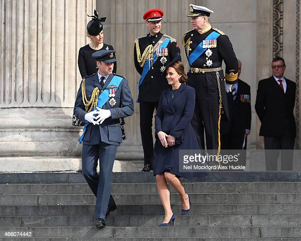 Sophie RhysJones Countess of Wessex Prince Edward Earl of Wessex Prince Andrew Duke of York Prince William Duke of Cambridge and Catherine Duchess of...