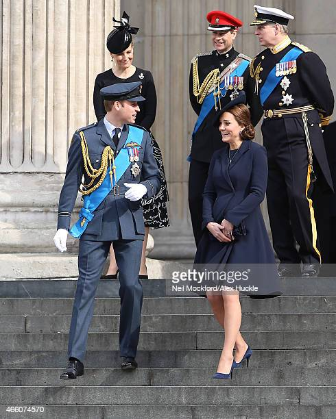 Sophie RhysJones Countess of Wessex Prince Edward Earl of Wessex Prince William Duke of Cambridge and Catherine Duchess of Cambridge leave after...