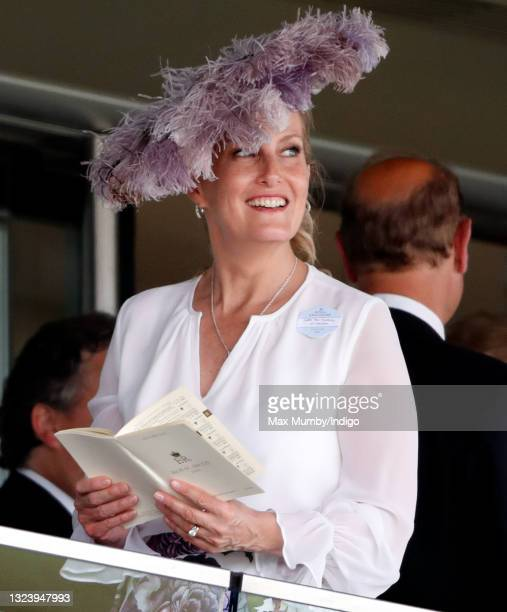 Sophie Rhys-Jones - Countess of Wessex watches the racing as she attends day 2 of Royal Ascot at Ascot Racecourse on June 16, 2021 in Ascot, England.