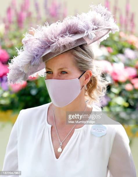 Sophie Rhys-Jones - Countess of Wessex wears a face mask as she attends day 2 of Royal Ascot at Ascot Racecourse on June 16, 2021 in Ascot, England.