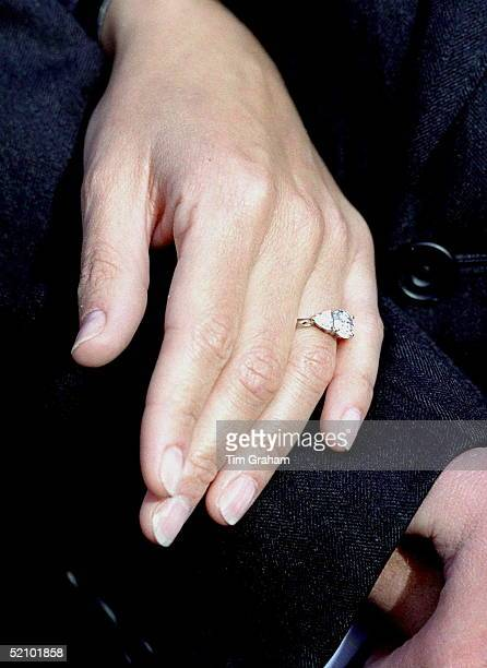 Sophie Rhysjones On The Day Of Her Engagement Posing For Pictures At St James's Palace Close Up Of The Ring