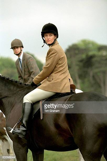 Sophie Rhysjones With Prince Edward Riding In Windsor Great Park Berkshire