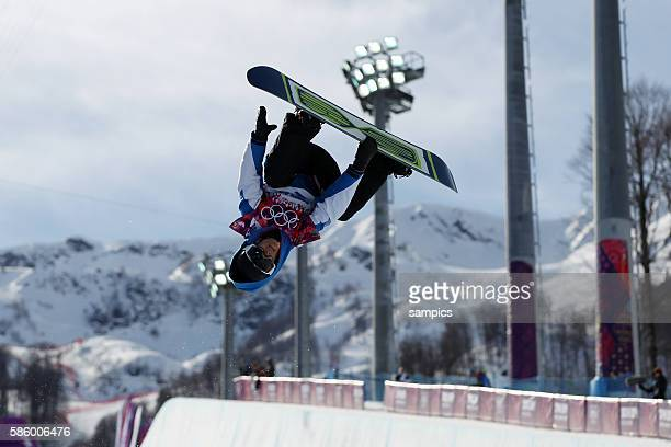 Sophie Rodriguez womens snowboard Halfpipe Qualifikation Olympic Games Day 5 XXII Olympic Winter Games Sochi 2014