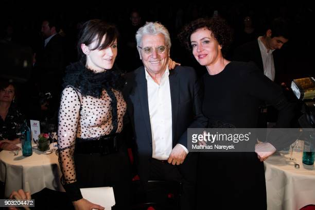 Sophie Rois Henry Huebchen and Maria Schrader attend the BZ Kulturpreis 2018 at Staatsoper im Schiller Theater on January 9 2018 in Berlin Germany