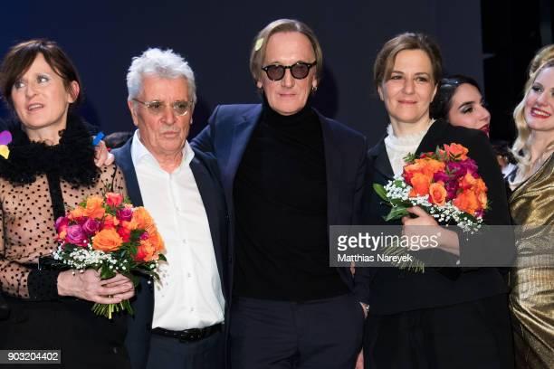 Sophie Rois Henry Huebchen Marius MuellerWesternhagen and Maria Schrader attend the BZ Kulturpreis 2018 at Staatsoper im Schiller Theater on January...