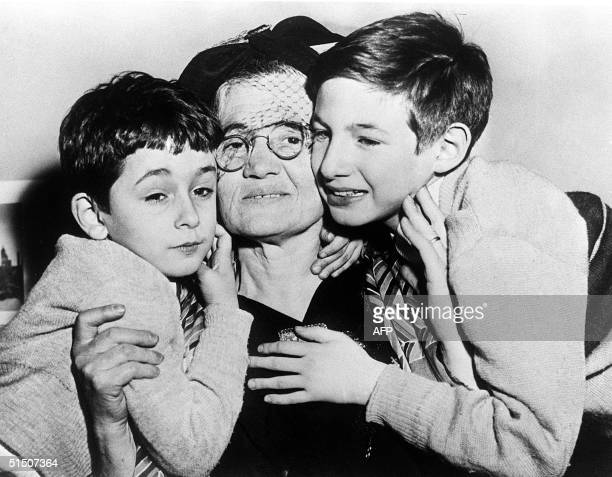 Sophie Rosenberg mother of Julius Rosenberg a civilian engineer with the US Army Signal Corps is surrounded in February 1954 in New York by her...