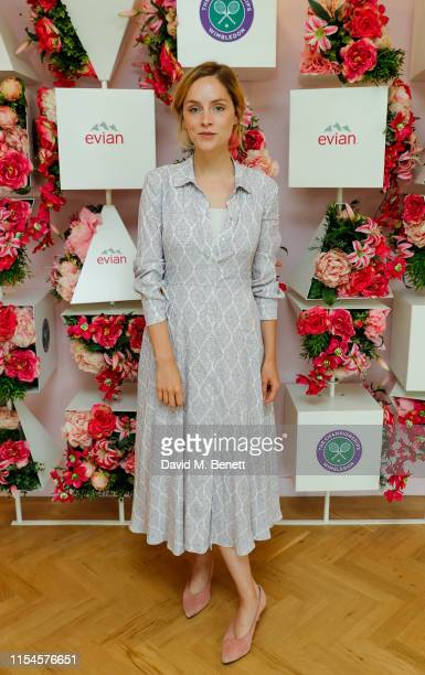 Sophie Rundle at the Evian Live young suite at Wimbledon 2019 at Wimbledon on July 8 2019 in London England