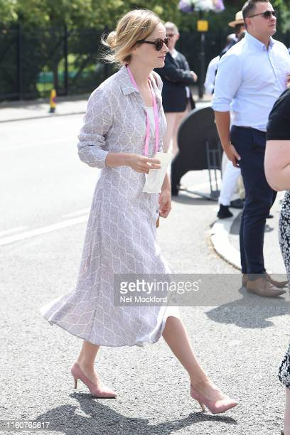 Sophie Rundle attends day 7 of the Wimbledon 2019 Tennis Championships at All England Lawn Tennis and Croquet Club on July 08 2019 in London England