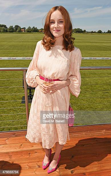 Sophie Rundle attends the Audi Polo Challenge 2015 at Cambridge County Polo Club on July 3 2015 in Cambridge England