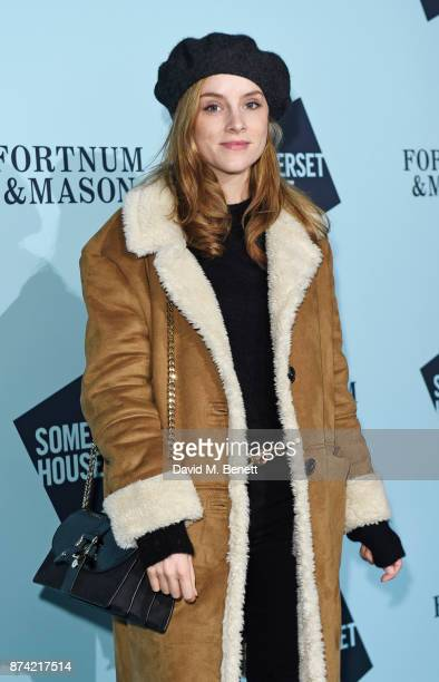 Sophie Rundle attends the opening party of Skate at Somerset House with Fortnum Mason on November 14 2017 in London England London's favourite...