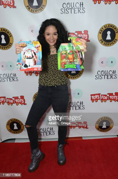 Sophie Santella attends The Couch Sisters 1st Annual Toys For Tots Toy Drive held onNovember 20 2019 in Glendale California