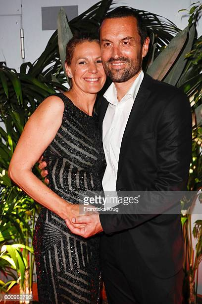 Sophie Schuett and Felix Seitz attend the Bertelsmann Summer Party at Bertelsmann Repraesentanz on September 8 2016 in Berlin Germany