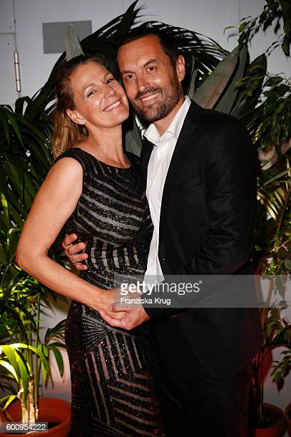 Sophie Schutt and Felix Seitz attend the Bertelsmann Summer Party at Bertelsmann Repraesentanz on September 8 2016 in Berlin Germany