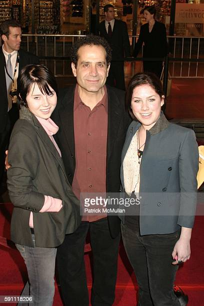 Sophie Shaloub Tony Shalhoub and Josie Shaloub attend Be Cool Worldwide Premiere at Graumans Chinese Theatre on February 14 2005 in Hollywood...