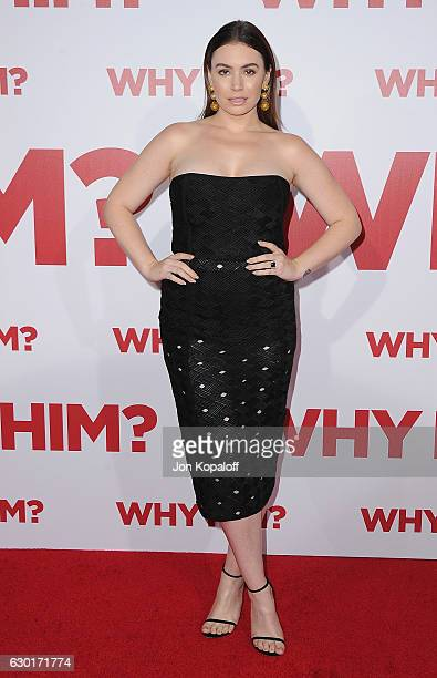 Sophie Simmons arrives at the Los Angeles Premiere Why Him at Regency Bruin Theater on December 17 2016 in Westwood California