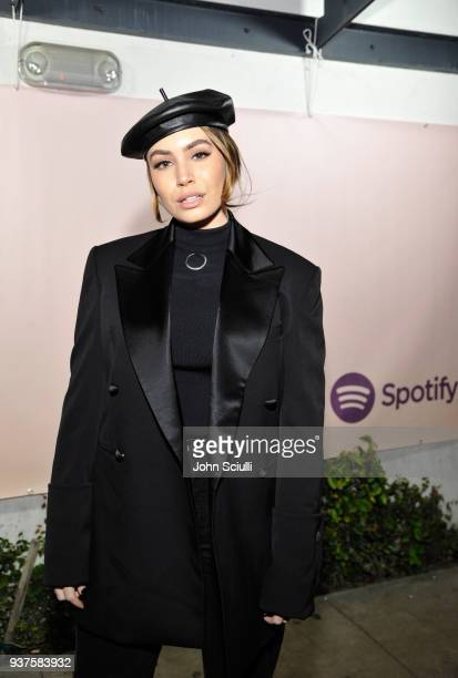 Sophie Simmons attends Spotify's Louder Together event celebrating the first ever collaborative Spotify single with Sasha Sloan Nina Nesbitt and...