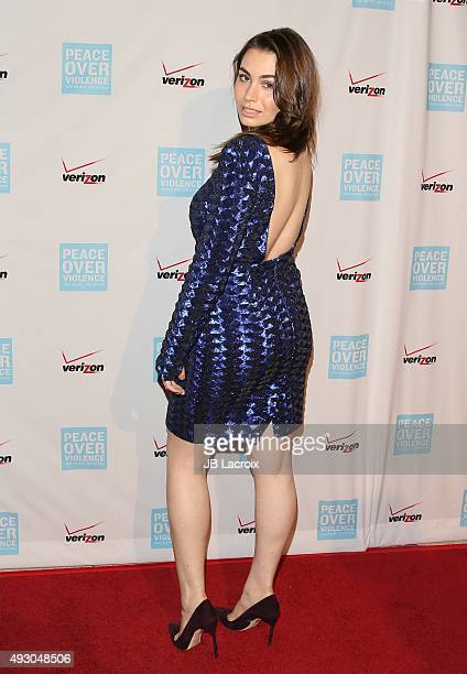 Sophie Simmons attends the Peace Over Violence 44th annual Humanitarian Awards held at the Dorothy Chandler Pavilion on October 16 2015 in Los...