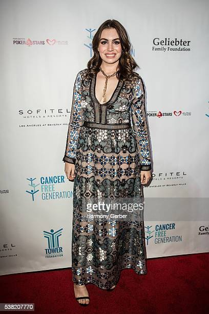 Sophie Simmons attends the Tower Cancer Research Foundation's 3rd Annual Ante Up For A Cancer Free Generation Poker Tournament And Casino Night at...