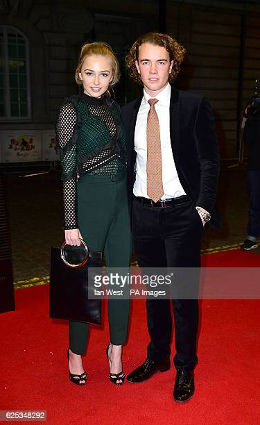 Sophie Simnett and Ross McCormack attend the Mum's List premiere at the Curzon Mayfair London