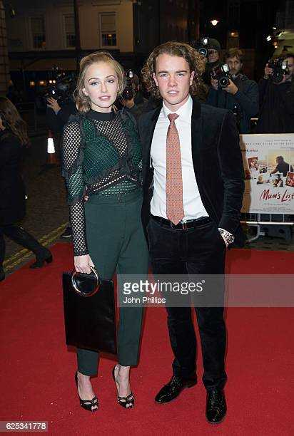 Sophie Simnett and Ross McCormack attend the UK film premiere of Mum's List at The Curzon Mayfair on November 23 2016 in London England